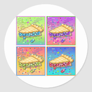 Pegatinas - pedazo de arte pop de la empanada pegatinas redondas