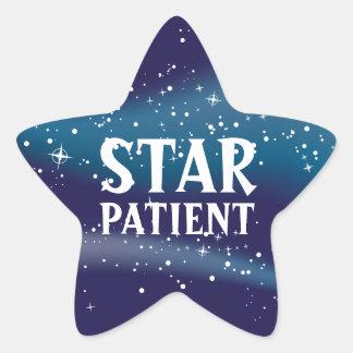 Pegatinas pediátricos pacientes de la estrella pegatina en forma de estrella