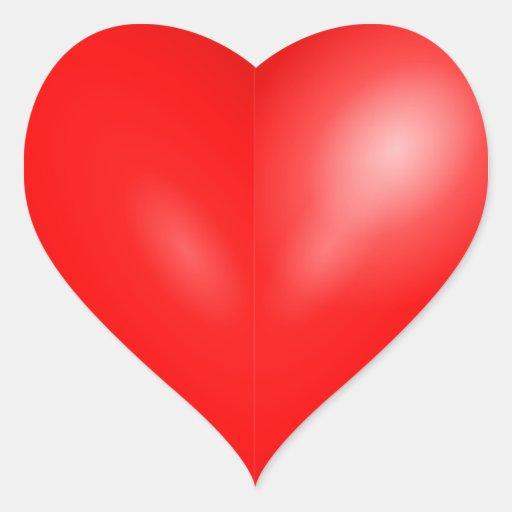 Pegatinas: Pegatinas del corazón Pegatina De Corazón Personalizadas