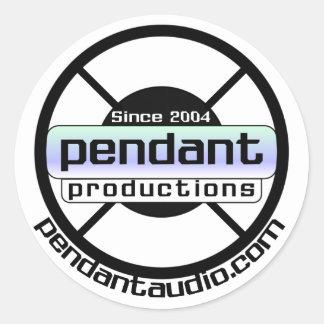 Pegatinas pendientes del logotipo pegatina redonda