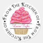 Pegatinas personalizados de la cocina de la etiquetas redondas