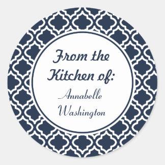 Pegatinas personalizados de la cocina de la marina pegatina redonda
