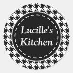 Pegatinas personalizados de la cocina de pegatina redonda