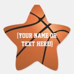 Pegatinas personalizados de la estrella del calcomanía forma de estrella personalizadas
