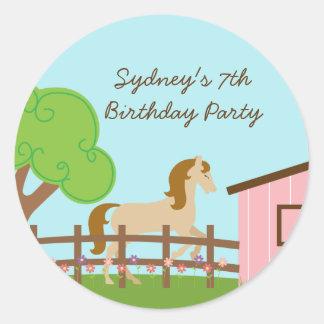 Pegatinas personalizados de la fiesta de cumpleaño