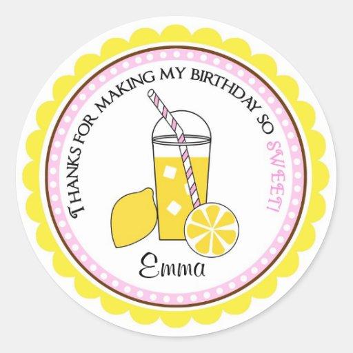 Pegatinas personalizados de la limonada pegatina redonda