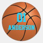 Pegatinas personalizados del baloncesto