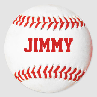Pegatinas personalizados del béisbol pegatina redonda