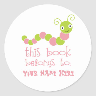 Pegatinas personalizados del Bookplate del ratón Pegatina Redonda