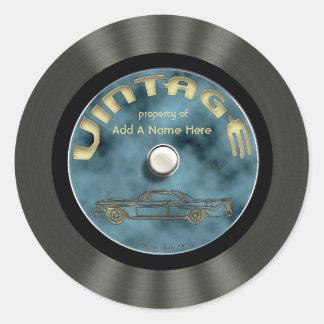 Pegatinas personalizados del disco de vinilo del v