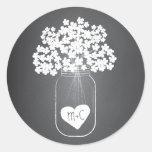 Pegatinas personalizados del favor del tarro de al etiqueta redonda