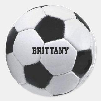 Pegatinas personalizados del fútbol pegatina redonda