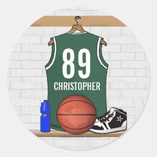 Pegatinas personalizados del nombre del baloncesto