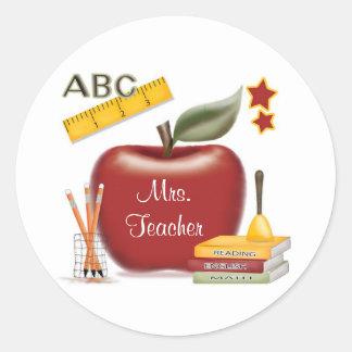Pegatinas personalizados del profesor