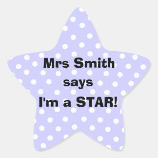 Pegatinas personalizados del profesor - soy una pegatinas forma de estrella personalizadas