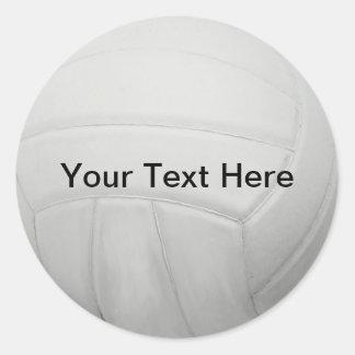 Pegatinas personalizados del voleibol etiqueta redonda