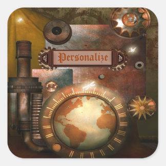 Pegatinas personalizados hermosos de Steampunk Calcomanía Cuadradas Personalizada