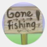 Pegatinas pesqueros idos de la muestra