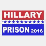 Pegatinas políticos populares de la prisión 2016 pegatina rectangular