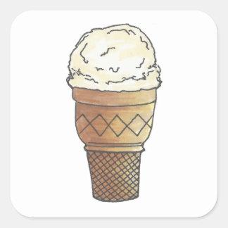Pegatinas poner crema de Vanilla Ice Pegatina Cuadrada