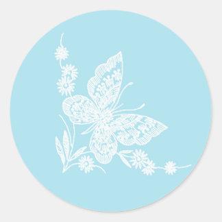 Pegatinas preciosos del boda de la mariposa