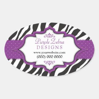 Pegatinas promocionales de la cinta púrpura de la pegatina ovalada