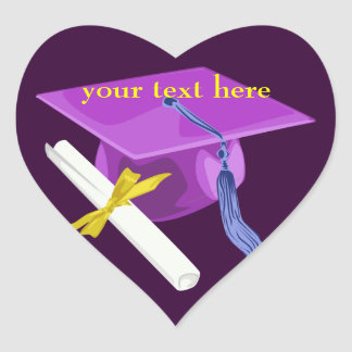 Pegatinas púrpuras del corazón del casquillo de la calcomania corazon