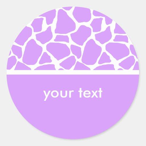 Pegatinas púrpuras del personalizado del estampado pegatina redonda