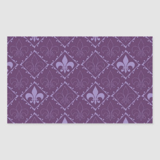 Pegatinas púrpuras del rectángulo del modelo de la