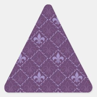 Pegatinas púrpuras del triángulo del modelo de la