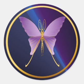 Pegatinas púrpuras grandes de una mariposa