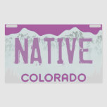 Pegatinas púrpuras nativos de la placa de Colorado Rectangular Altavoces