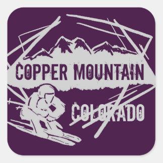 Pegatinas púrpuras oscuros del esquí de Colorado Colcomanias Cuadradass