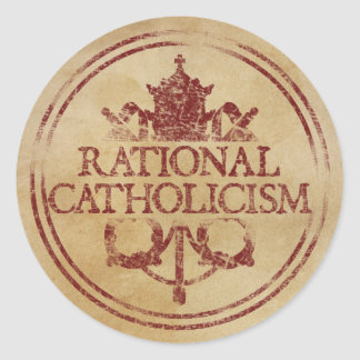 Pegatinas racionales del catolicismo pegatina redonda