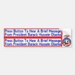 Pegatinas radicales de Obama del Islamist para los Etiqueta De Parachoque