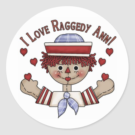 Pegatinas Raggedy de Andy Pegatina Redonda