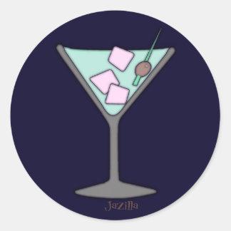 Pegatinas rápidos del cielo de Martini Pegatina Redonda