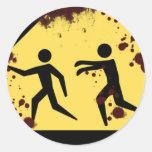 Pegatinas rápidos sangrientos de los zombis