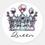 Pegatinas reales de la reina de la corona