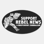 Pegatinas rebeldes de las noticias de la ayuda calcomania de ovaladas