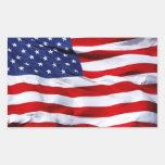 Pegatinas rectangulares de la bandera americana
