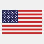 Pegatinas rectangulares de la bandera americana rectangular pegatina