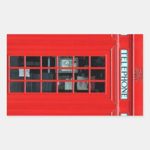 Pegatinas rectangulares de la cabina de teléfono d