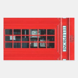 Pegatinas rectangulares de la cabina de teléfono pegatina rectangular