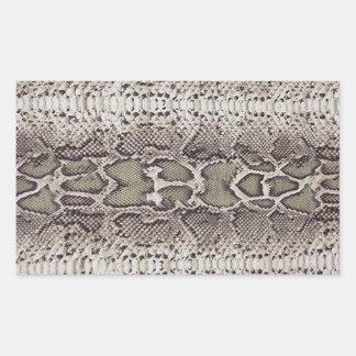 Pegatinas rectangulares de la piel de serpiente pegatina rectangular