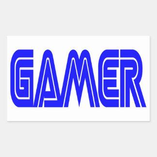 Pegatinas rectangulares del videojugador pegatina rectangular