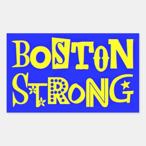 Pegatinas rectangulares fuertes de Boston Rectangular Pegatinas