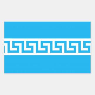Pegatinas rectangulares griegos del modelo