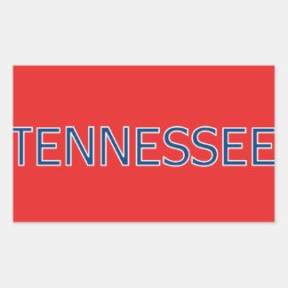Pegatinas rectangulares rojos de Tennessee Pegatina Rectangular