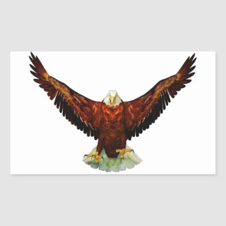 Pegatinas Rectángulo-Formados Eagle majestuosos Rectangular Altavoces